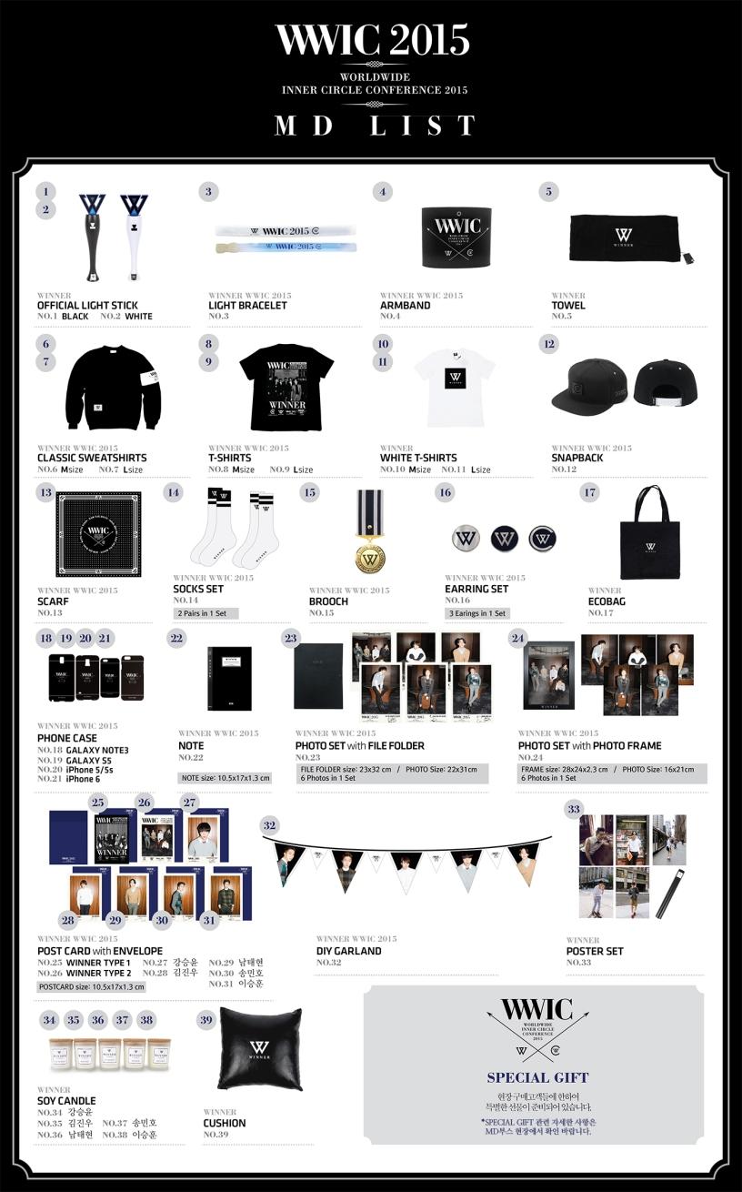 5eb0fcd7c15 Info  WINNER s Official Merchandise for WWIC 2015! – With WINNER